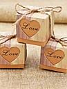 Cubic Hârtie cărți de masă Favor Holder Cu Model Inimă Cutii de Savoare