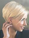 Ljudski kose bez kaplama Ljudska kosa Ravan kroj Pixie frizura Sa šiškama Stražnji dio Kratko Machine Made Perika Žene