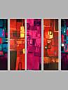 Pictat manual Oameni Orizontal,Modern Cinci Panouri Canava Hang-pictate pictură în ulei For Pagina de decorare