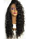 Äkta hår Spetsfront Peruk Brasilianskt hår Lockigt 130% Densitet Med Babyhår limfria Till färgade kvinnor Naturlig hårlinje Korta Mellan