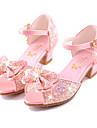 Fete Sandale Vară Toamnă Confortabili Noutăți Pantofi de flori Fata Microfibre Nuntă Rochie Casual Party & Seară Toc Plat Funde Cataramă
