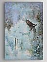 HANDMÅLAD Abstrakt Vertikal, Abstrakt Duk Hang målad oljemålning Hem-dekoration En panel