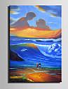Peint a la main Abstrait Format Vertical, Moderne Toile Peinture a l\'huile Hang-peint Decoration d\'interieur Un Panneau