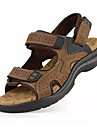 Bărbați Pantofi PU Vară Confortabili Sandale Plimbare Negru / Galben / Maro