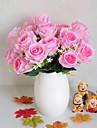 Fleurs artificielles 1 Une succursale Style Simple Roses Fleur de Table