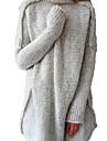 Damă Casul/Zilnic Lung Cardigan-Mată Manșon Lung Guler Pe Gât Acrilic Iarnă Mediu Strech