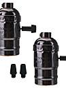 2 st e26 / e27 socket skruvlampor edison retro hänglampa hållare med strömbrytare 110-240v för lampa eller fixtur ersättnings projekt