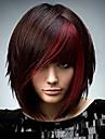Synteettiset peruukit Kinky Curly Tyyli Suojuksettomat Peruukki Punainen Musta / Punainen Synteettiset hiukset Naisten Afro-amerikkalainen peruukki Punainen / Musta Peruukki Lyhyt StrongBeauty