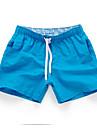 Bărbați Casual Activ Sexy Talie Medie, Inelastic Pantaloni Scurți Relaxat Pantaloni 100% Poliester Mată Primăvară Vară Toamnă