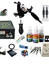 Татуировочная машина Набор для начинающих - 1 pcs татуировки машины с 1 x 5 ml татуировки чернила LCD питания No case 1 х Стальная