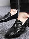 Bărbați Pantofi Sintetice Toamnă / Iarnă Confortabili Mocasini & Balerini Plimbare Negru / Albastru / Pantofi formale / Party & Seară / Pantofi rochie