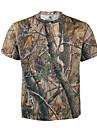 Jakt-T-shirt med kamouflagemönster Andningsfunktion Kamouflage Överdelar Kortärmad för Jakt Klättring