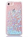 Pentru iPhone X iPhone 8 iPhone 8 Plus Carcasă iPhone 5 Carcase Huse Scurgere Lichid Transparent Carcasă Spate Maska Luciu Strălucire Greu