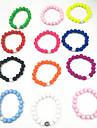 Dam Sträng Armband Vintage Natur Vänskap Handgjord Mode Resin Cirkel Form Smycken Gåva Kostymsmycken