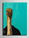 Hang målad oljemålning HANDMÅLAD - Djur Nutida Duk