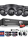 Sannce® 4ch cctv-säkerhetssystem 1080p ahd / tvi / cvi / cvbs / ip 5-i-1 DVR med 4 * 2,0 MP-kameror med 1 tb hdd