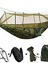 2 personer Campinghammock med myggnät Hänglås Buntband Repsäckar Fuktighetsskyddad Väl ventilerad Rektangulär Ultra Lätt (UL) Anti-mygg