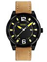 SKMEI Bărbați Ceas Elegant Ceas La Modă Ceas de Mână Ceas Casual Japoneză Quartz Calendar Rezistent la Apă Piele Bandă Cool Casual Maro