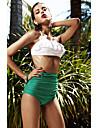 Femei Bikini Femei Bustieră Talie Înaltă Solid Push-up Nailon Spandex