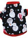 Katt Hund Kappor T-shirt Tröja Hundkläder Fest Ledigt/vardag Håller värmen Snöflinga Vit Mörkblå Kostym För husdjur