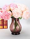 5 Gren Plast PU Verklig beröring Pioner Bordsblomma Konstgjorda blommor