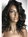 Äkta hår Spetsfront Peruk Kroppsvågor 150% Densitet 100 % handbundet Afro-amerikansk peruk Naturlig hårlinje Korta Mellan Lång Dam Äkta