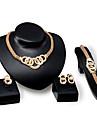 Pentru femei Set bijuterii - Ștras, Placat Auriu Personalizat, Lux, Vintage Include Auriu Pentru Petrecere / Ocazie specială / Inaugurare a unei case