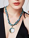 Pentru femei Turcoaz Coliere cu Pandativ - Boem, European, Modă Rosu, Verde, Albastru 42+5 cm Coliere 1 buc Pentru Petrecere, Zi de Naștere, Cadou