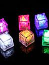 diamant de gheata cub de lumină a condus violet în formă de (12-Pack)