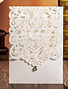 Wrap & Pocket Wedding Invitations 50 - Invitation Cards Classic Style Embossed Paper