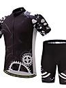 Herr Kortärmad Cykeltröja med shorts Cykel Klädesset