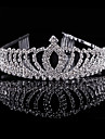 Crystal Rhinestone Alloy Tiaras Headwear with Floral 1pc Wedding Special Occasion Party / Evening Headpiece