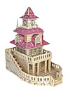 3D Puzzle / Jigsaw Puzzle / Model Building Kit Famous buildings / Furniture / House DIY / Simulation Wooden Classic Kid\'s Unisex Gift