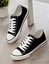Damă Pantofi Pânză PU Primăvară Confortabili Adidași Pentru Casual Negru Rosu