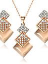 Pentru femei Opal / Cristal Χάντρες Set bijuterii - Cristal, Ștras, Opal Infinit Lux, Stil Atârnat, Boem Include Colier / cercei / Seturi de bijuterii de mireasă Auriu Pentru Cadouri de Crăciun
