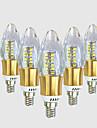 5W E14 Becuri LED Lumânare C35 40 led-uri SMD 2835 Alb Cald Alb 550-600lm 2800-3200 6000-6500.