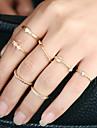Pentru femei Inel manşetă Ring Design Circular Euramerican stil minimalist Aliaj Metalic Ștras Aliaj Circle Shape Round Shape Bijuterii