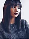 Obehandlad hår Remy-hår Spetsfront Peruk Brasilianskt hår Yaki Rakt Kort Bob 130% 150% Densitet Med Babyhår limfria Afro-amerikansk peruk