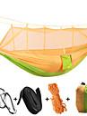 Campinghammock med myggnät Utomhus Bärbar, Lättvikt, Anti-mygg Nylon för Camping / Camping / Vandring / Grottkrypning / Utomhus - 1 person