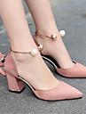 Pentru femei Pantofi Piele / PU Vară Balerini Basic Tocuri Perle Bej / Roz / Vișiniu