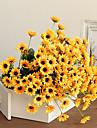 20heads / branch mini solros konstgjord blomma hem dekoration