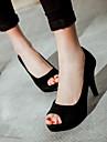 Damă Pantofi PU Vară Confortabili Sandale Pentru Casual Negru Mov Rosu