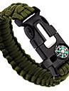 Whistle / Tändstål / Överlevnadsarmband - Fire Starter, Visselpipa, kniv Justerbar, Taktisk, Multifunktion för Camping / Jakt / Fiske - Nylon