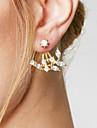 Pentru femei Cercei Stud Cercei Față & Spate Design Basic La modă stil minimalist costum de bijuterii Aliaj Leaf Shape Bijuterii Pentru