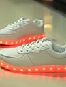 Bărbați Adidași Pantofi Usori Toamnă Iarnă Imitație de Piele Casual LED Toc Plat Alb Negru Plat