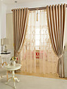 Blackout Curtains Drapes Living Room Solid Colored Yarn Dyed