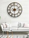 Wandklok, 20 \'\' ronde centurian klassieke metalen smeedijzeren Romeinse cijfer stijl home decor analoge metalen klok