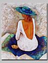 Pictat manual Oameni Vertical,Abstract Modern Un Panou Canava Hang-pictate pictură în ulei For Pagina de decorare