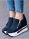 Damă Pantofi PU Vară Confortabili Pantofi Flați Pentru Casual Negru Rosu