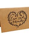 Împăturit în partea de sus Invitatii de nunta-Felicitări de mulțumire Hârtie pergament